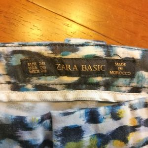 Zara Pants - ZARA BASIC Patterned Trousers